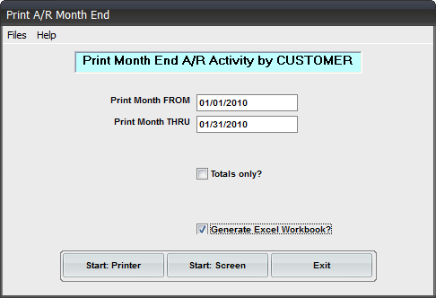 AR Month-End Journal Workbook Reporting Add-on